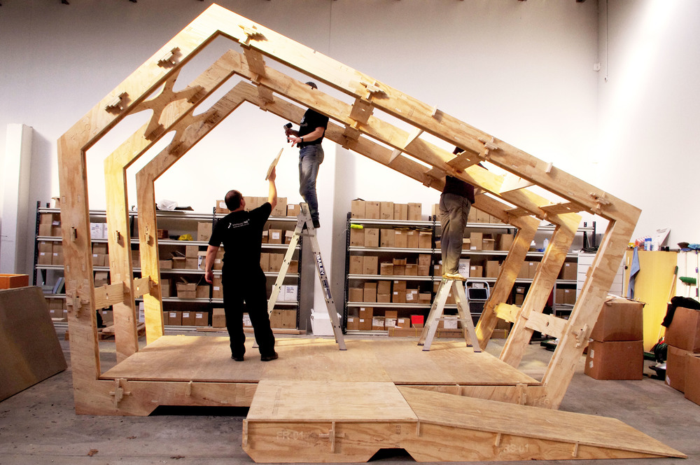Space Craft Developing WikiHouse In New Zealand