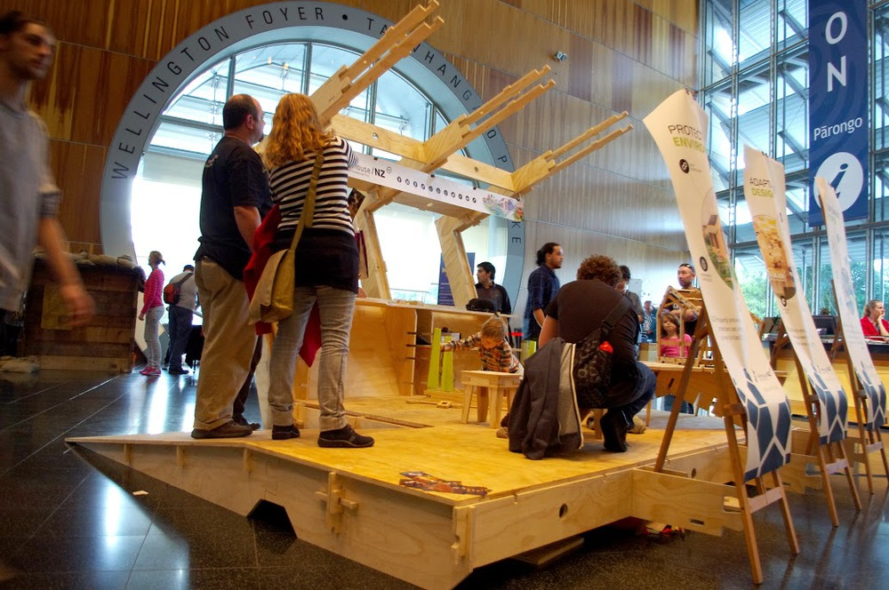 WikiHouse at Makertorium, Te Papa.