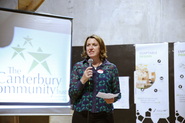 Bridget Frame, Social Enterprise Fund Trustee, announcing the $300,000 funding grant.
