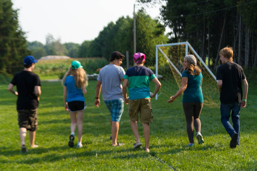 Teen leadership campers at summer camp