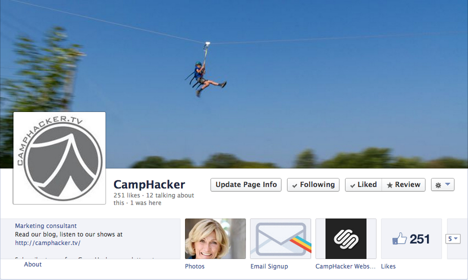 Like CampHacker on Facebook (click the picture!)