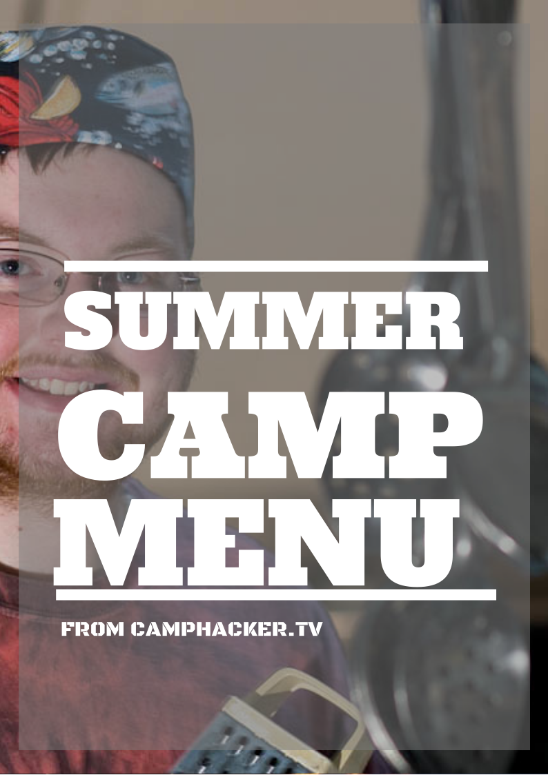 Camp Menu for Sale