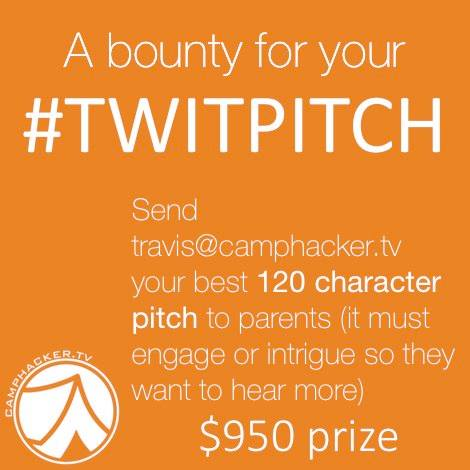 CampHacker #twitpitch Contest 2014