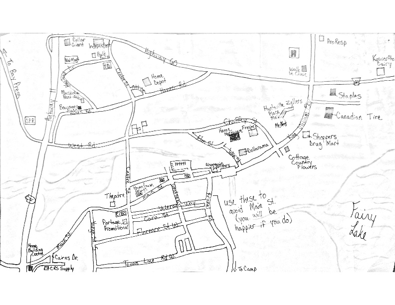Cairn summer camp's town run map