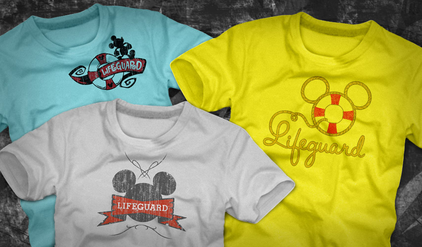 Theme Park Lifeguard Tees