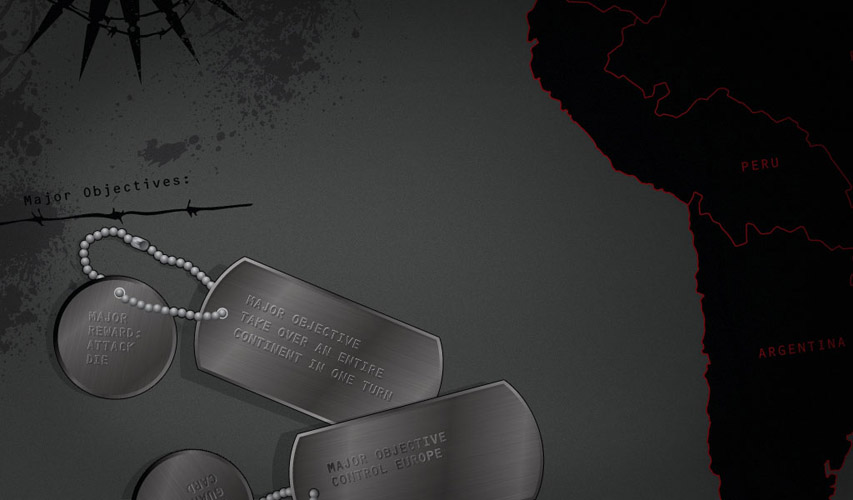 Risk Black Ops dogtag game pieces
