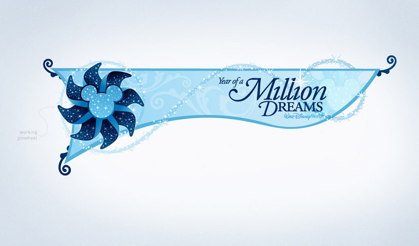 Disney's Year of a Million Dreams signage