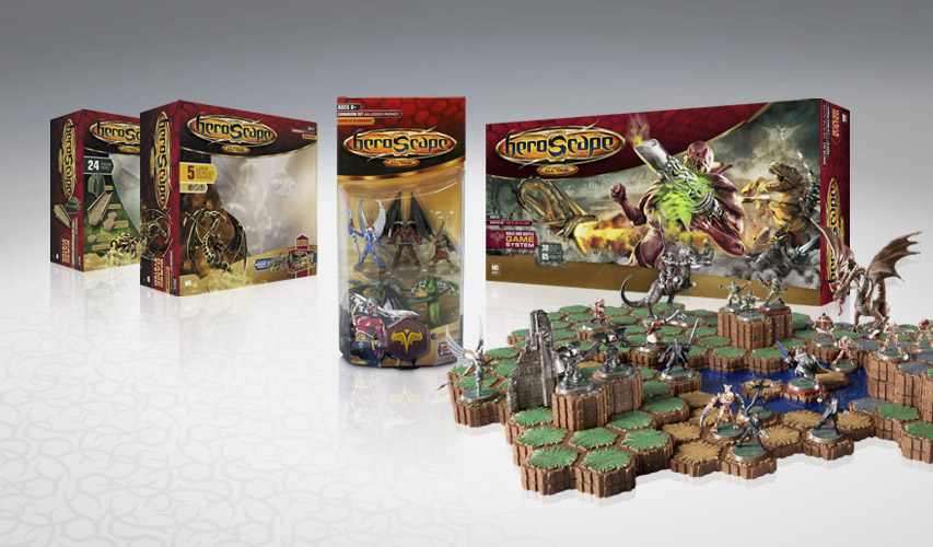 Heroscape packaging and identity