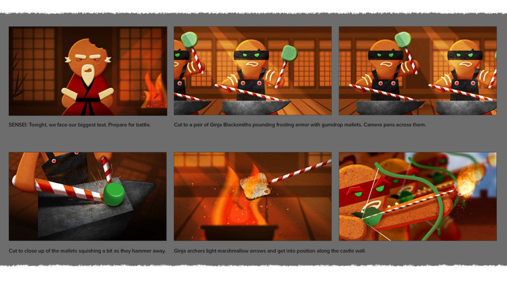 Excerpt from storyboard