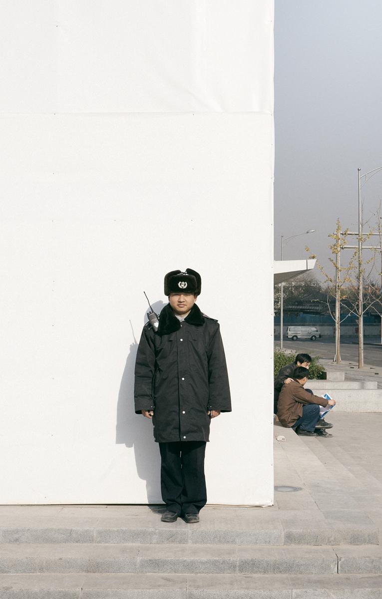 """Pacific Distance, Beijing Guard #1"",2009  36"" x 23"""