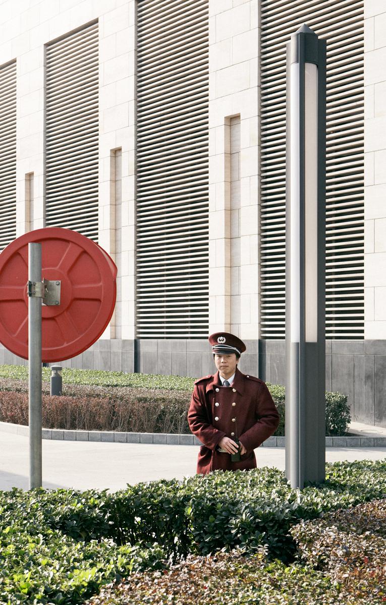 """Pacific Distance, Beijing Guard #2"",2009  36"" x 23"""