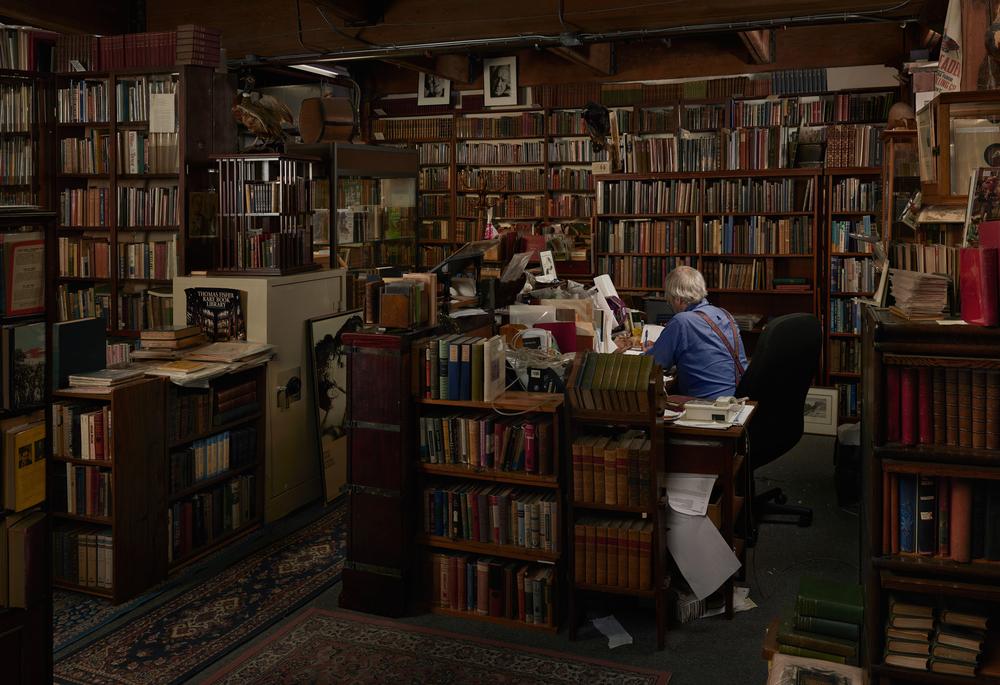"""Antiquarian Bookstore"",2015 - 2016  48"" x 70"""