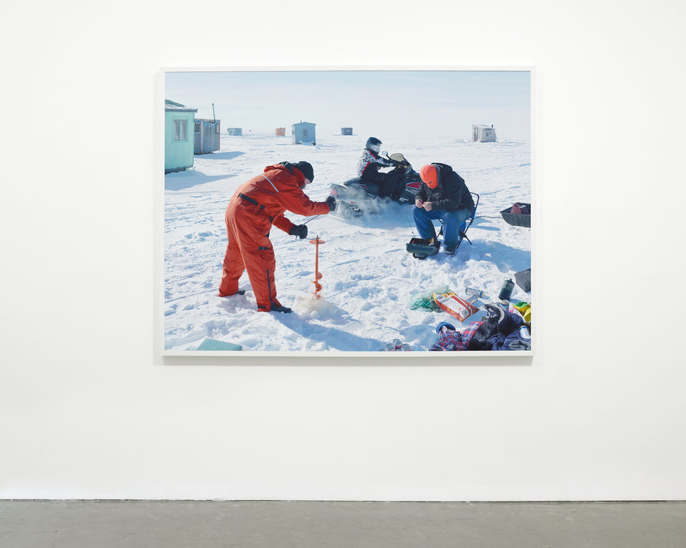 """Ice Fishing"", 2015  54 x 70.5 in. (137.15 x 179.07 cm)"