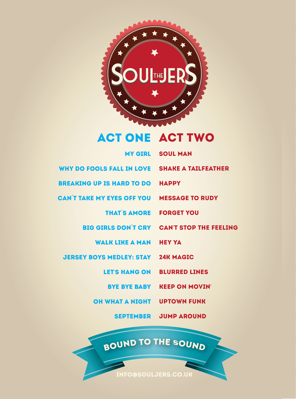 Souljers Set List