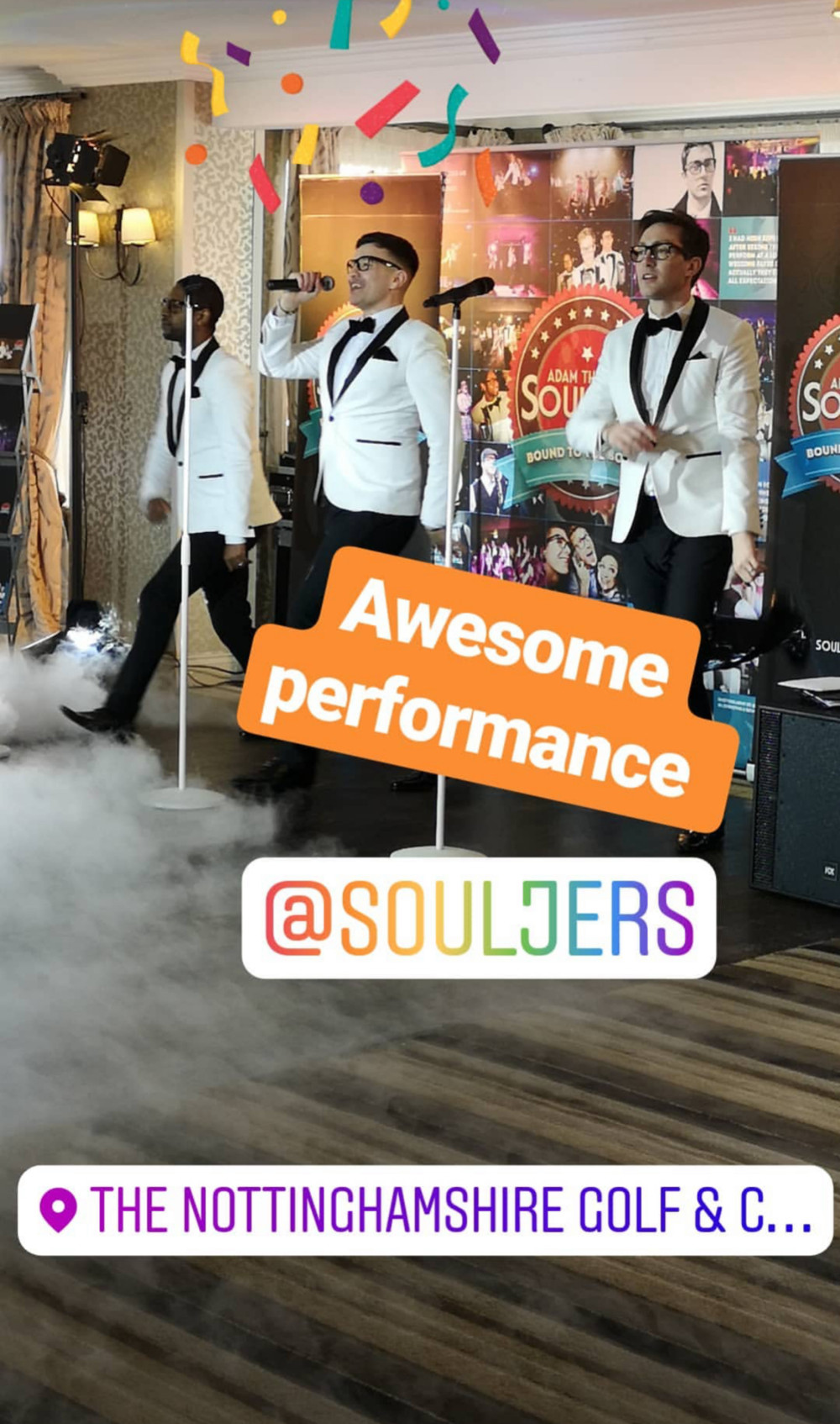 Action shot of the The Souljers caught in full swing on Instagram!    We are using Instagram more and more so follow us  @souljers , to keep updated on recent events and performances!