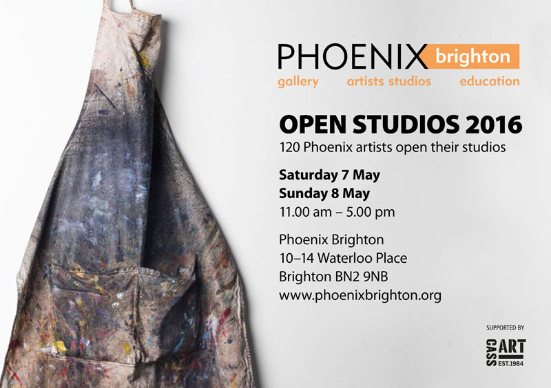 Open Studios at Phoenix Brighton May 2016   Phoenix Brighton had Open Studios the weekend of 6th - 8th May. I will be in my studio and hope you can make it along for a visit ... and there are approximately 119 other studios to see.