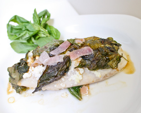 Basil wrapped tilapia