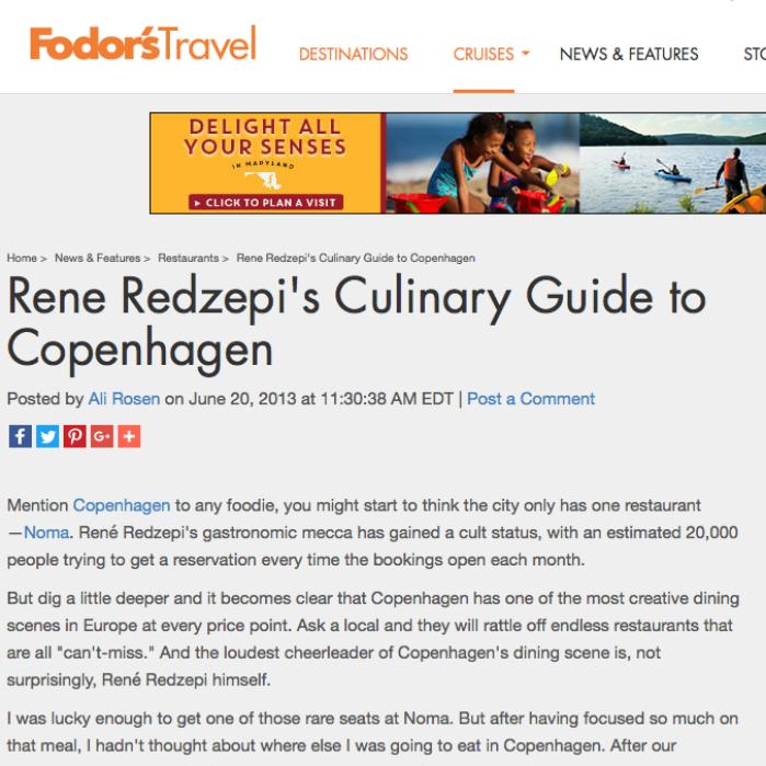 Rene Redzepi's Culinary Guide to Copenhagen