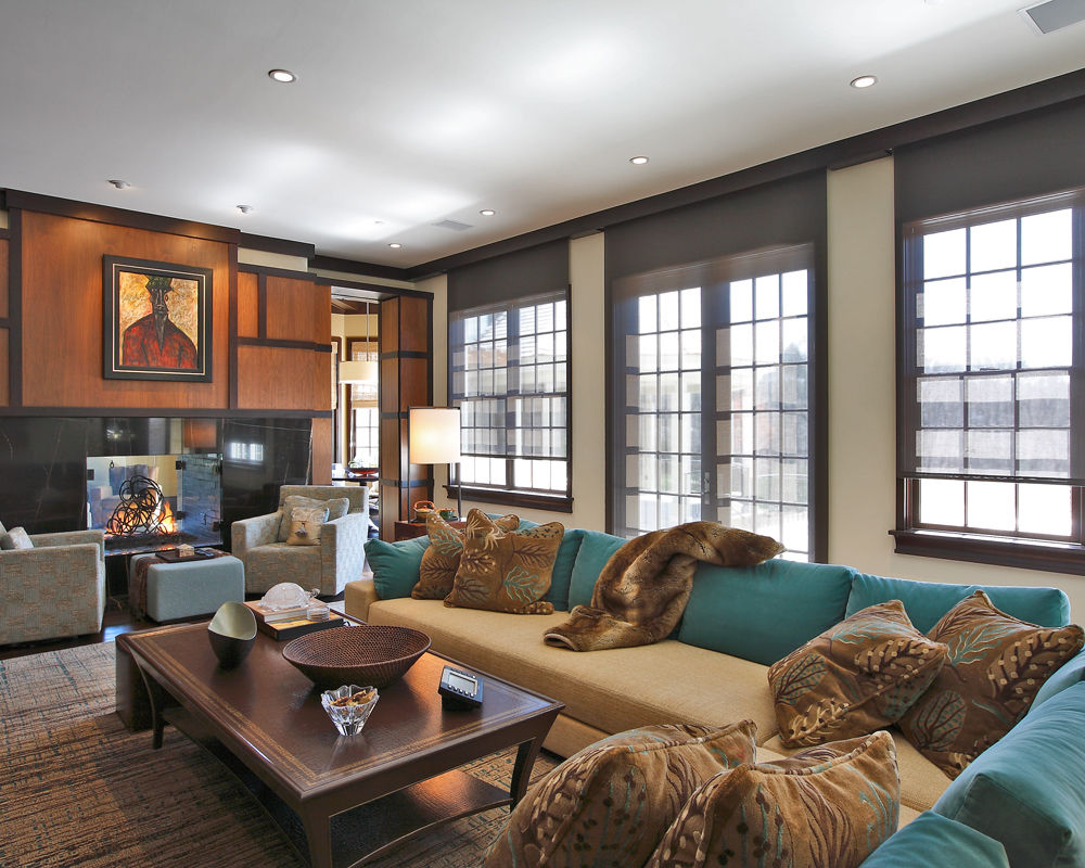 Clients tell us thatcontrolling your lights remotely isone of the most useful and efficient attributes of their home systems.This Westchester County, NY home utilizes a Lutron Homeworks lighting control system and Lutron Sivoia motorized shades to enhance this home with elegant living spaces.