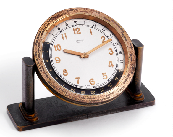 Click here for details. - Vintage Desk Clock Friday: A Gubelin World Time Clock From The