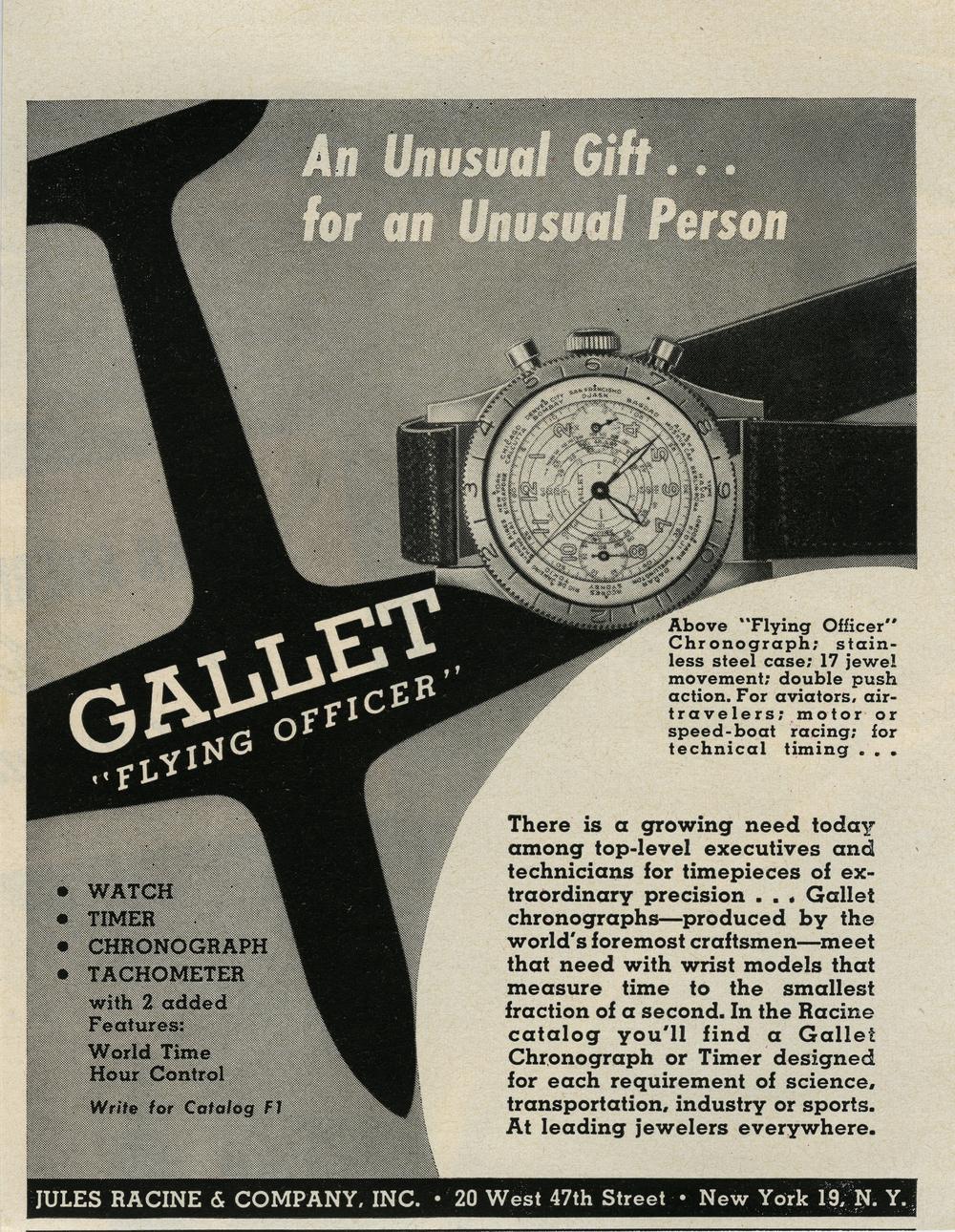 Gallet Flying Officer Ad.jpg