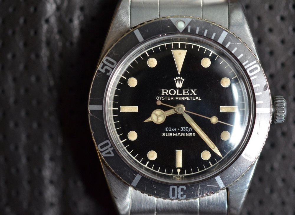 "A 1962 Rolex Submariner reference 5508 with ""exclamation point"" dial."