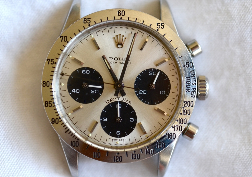 "A 1970 Rolex Cosmograph 6262 with ""Daytona"" above the 6 o'clock register"