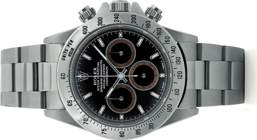 This Rolex Daytona 16520 sold for $31,200 in Antiquorum's 2008 Rolex Sport Watch sale.