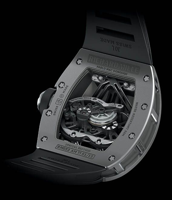 The RM53's 30-degree-tilted movement