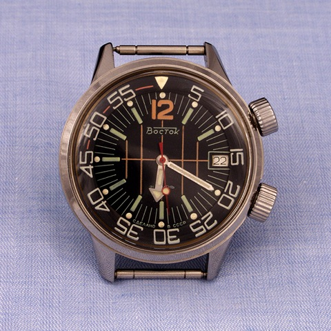 A rare internal bezel Amphibia, image courtesy of ussrtime.com