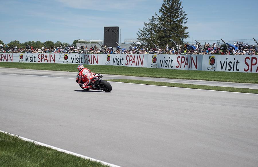 Nicky Hayden pre-crash.