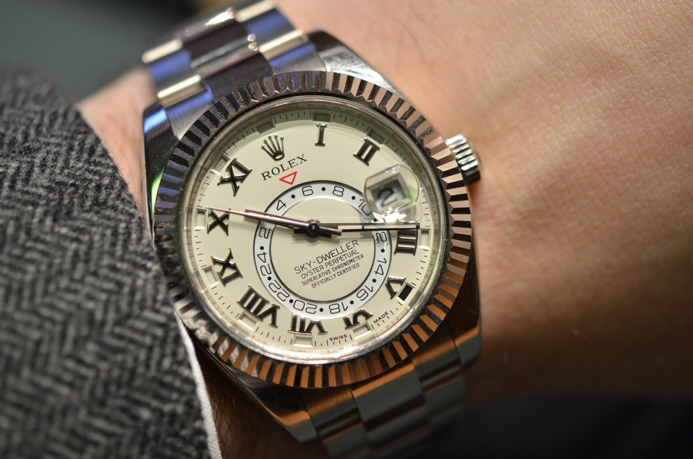 Rolex Sky-Dweller Reference 326939 in 18k white gold.