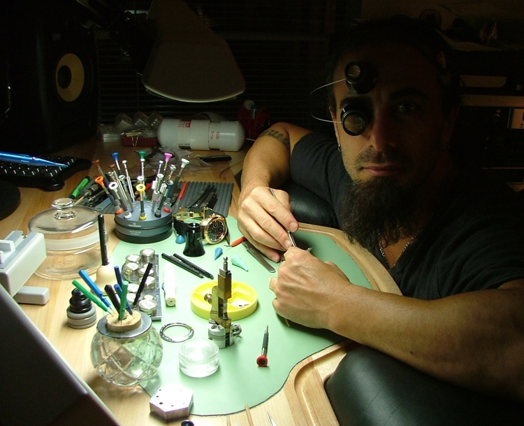 Watchmaker Dan Spitz at his Workbench (Back for a HODINKEE Encore)