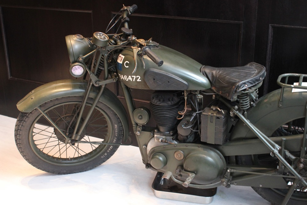 A Real Vintage Motorcycle at Bremont