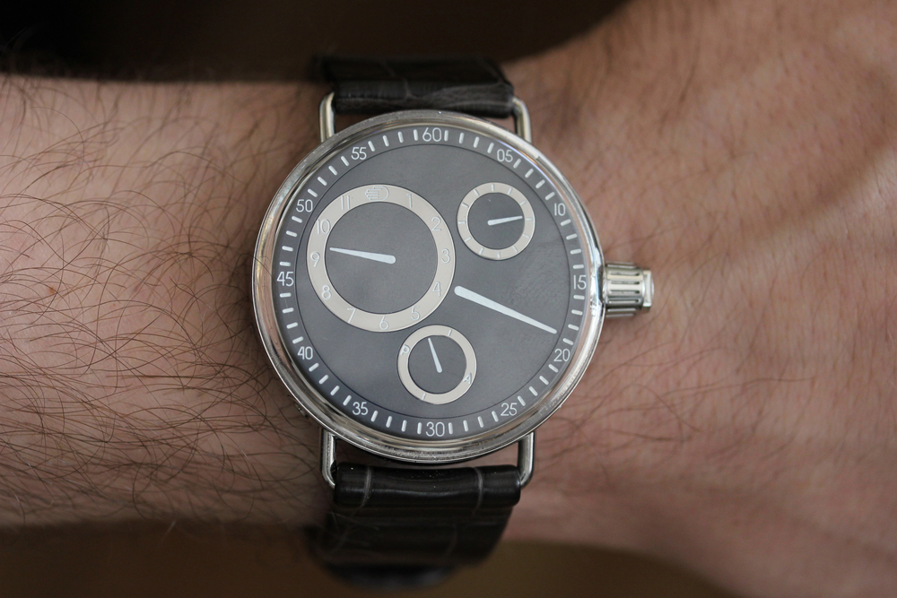 The Ressence 1003 on the wrist