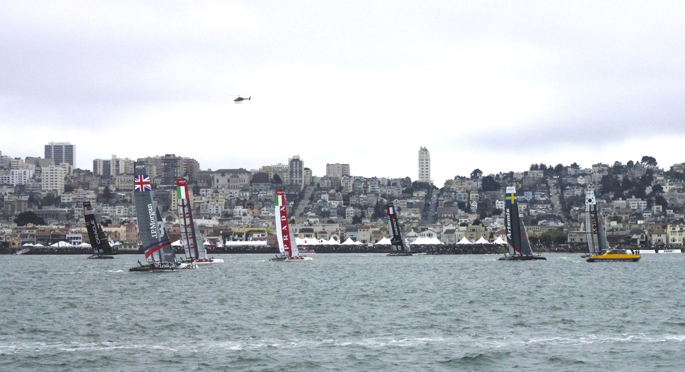 A Fleet Race in Action