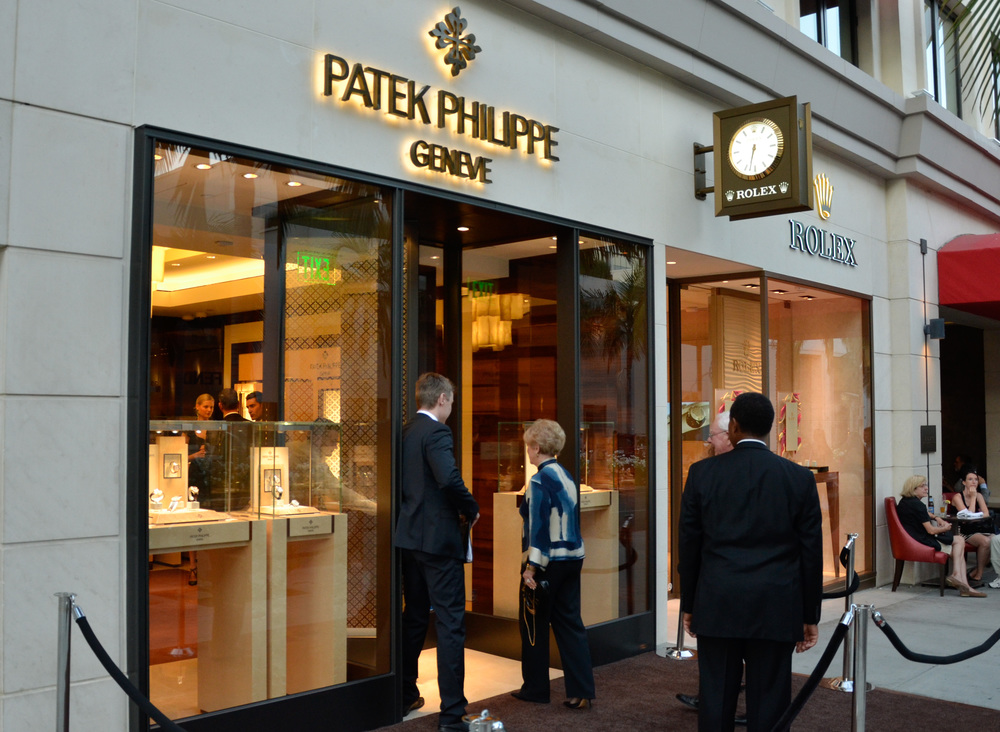 The first freestanding Patek Philippe boutique in the United States, on Rodeo Drive in Beverly Hills.