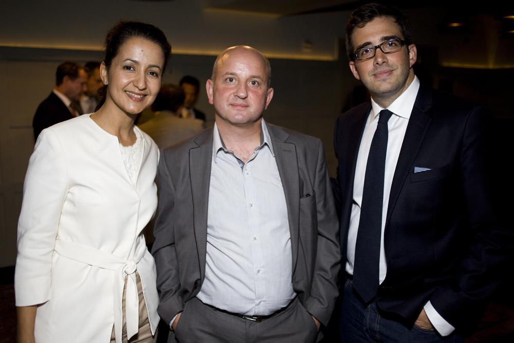 Ms. Mechbal, Emmanuel Bouchet, and Benjamin Clymer
