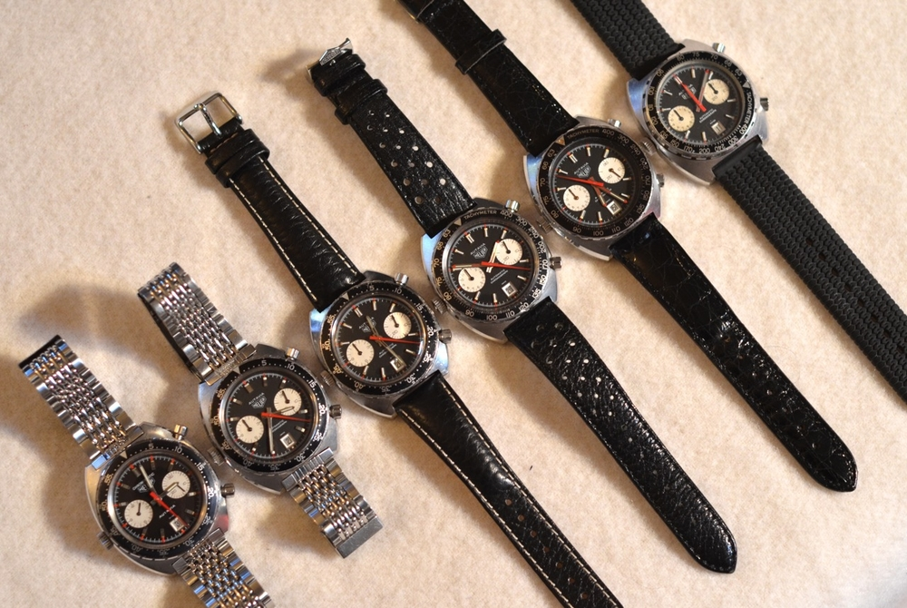 Every reference of the Heuer Autavia automatic with a black dial.