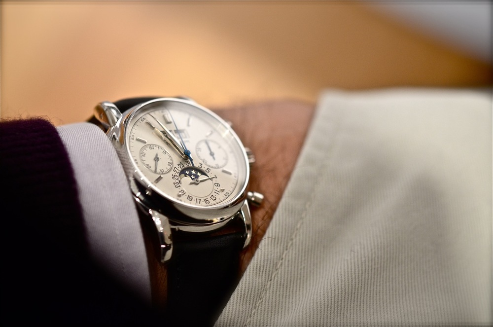 One of two platinum Patek Philippe 2499's in existence, from the collection of Eric Clapton