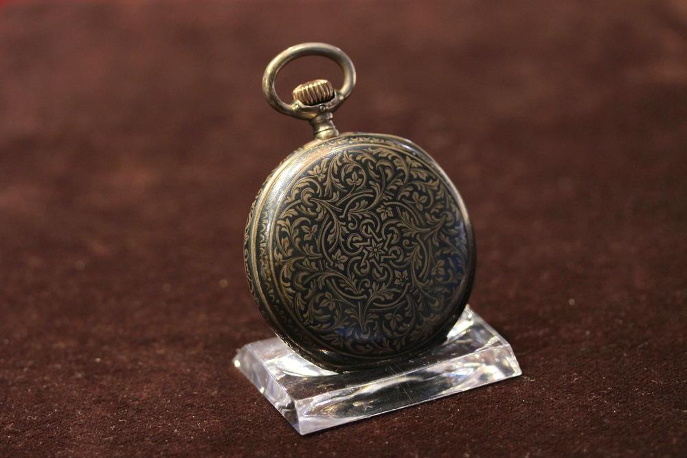 1899 Niello Decorated Savonette Watch