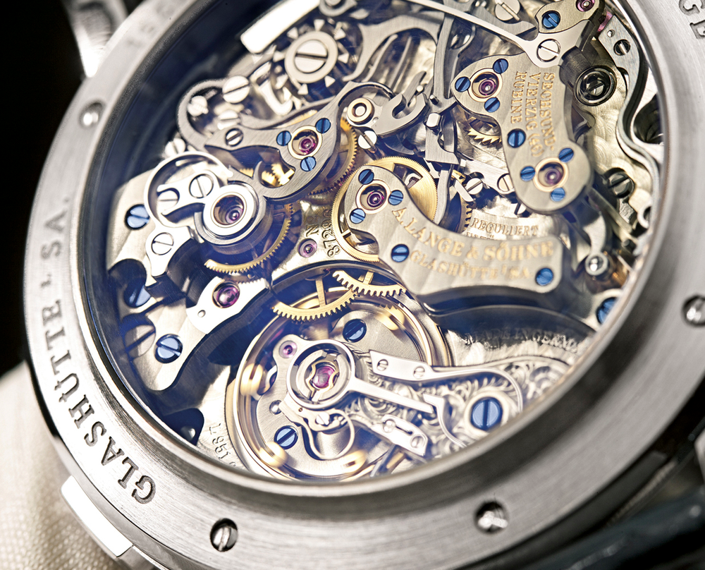 The raised edge around the exhibition back causes the Datograph to sit high on the wrist.