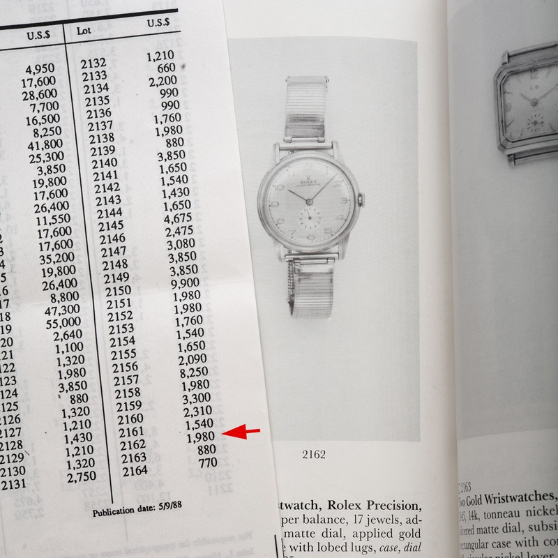 The 1988 Lot Sales Record from Sotheby's New York