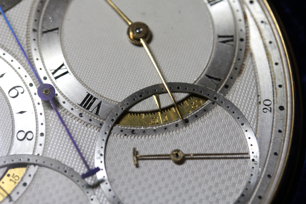 Solar Time and Annual Calendar on the Right Side of the Dial