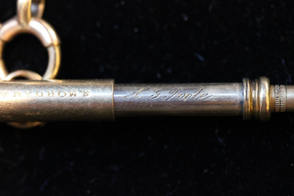 Telescoping Pen on Watch Chain