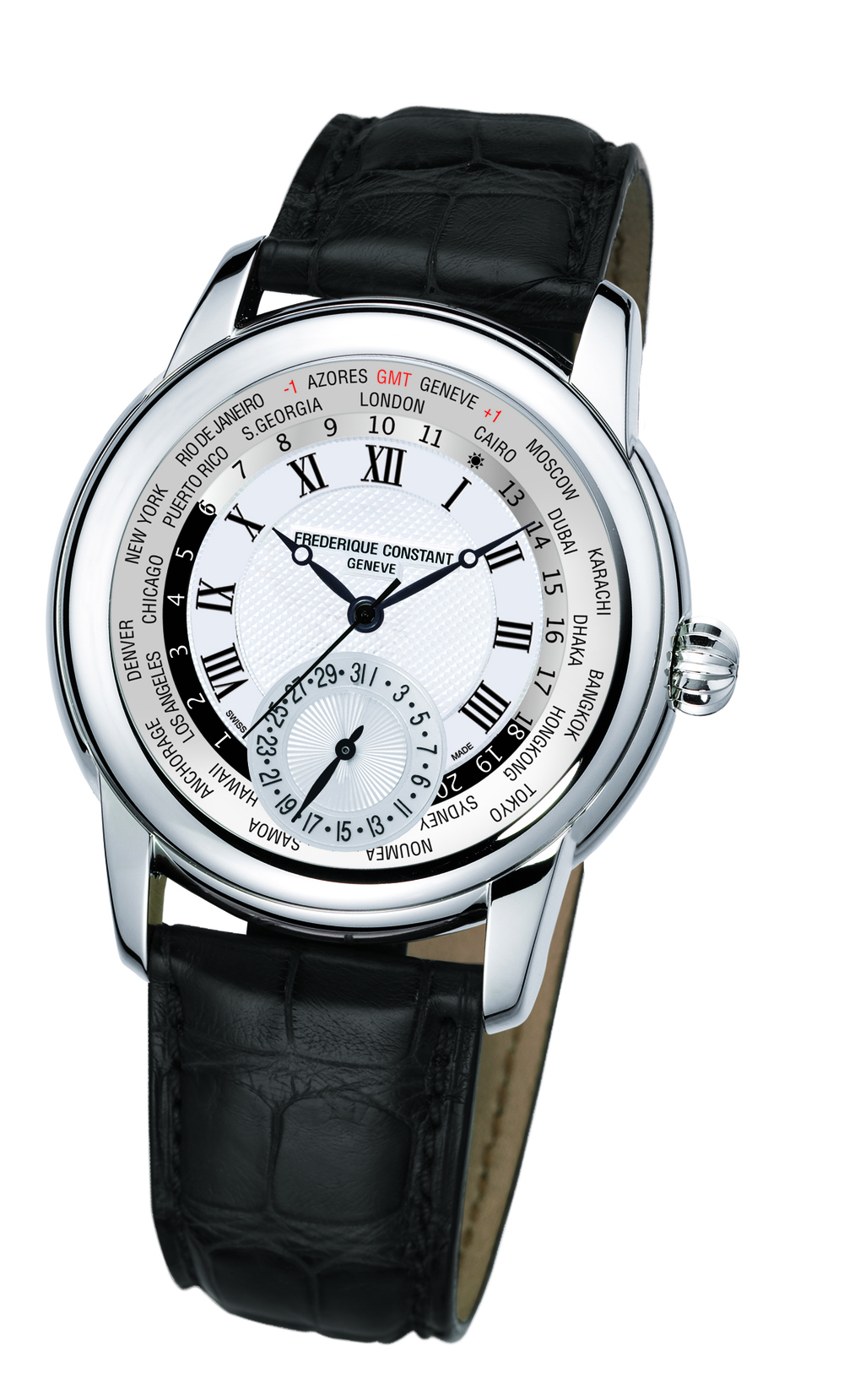 Guilloché Dial With Roman Numerals and Black Accents