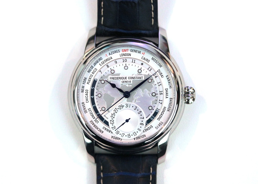 Frederique Constant Worldtimer With Map Dial