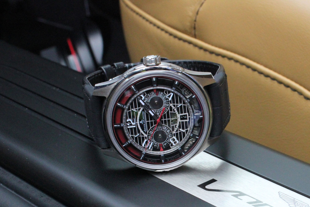 The AMVOX7 Chronograph In The Aston Martin Vanquish