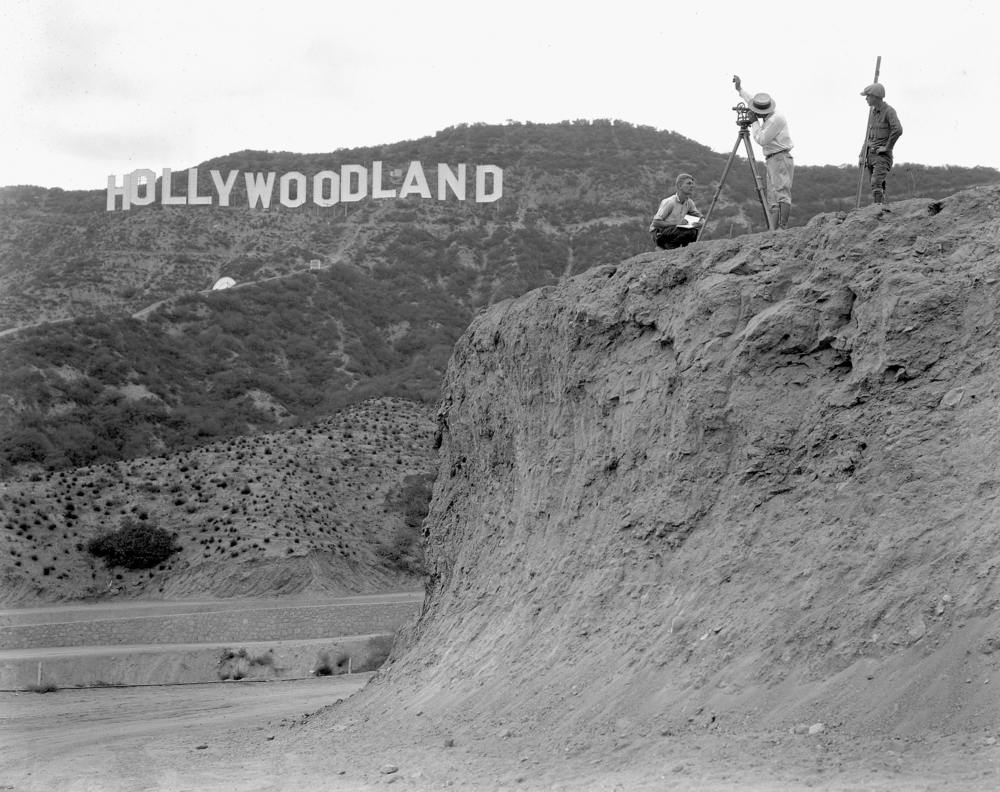 "Photograph is courtesy of the Academy of Motion Picture Arts and Sciences' Margaret Herrick Library."" "" TM & Design © 2012 Hollywood Chamber of Commerce.  The Hollywood Sign is a trademark and the intellectual property of the Hollywood Chamber of Commerce. All Rights Reserved."""