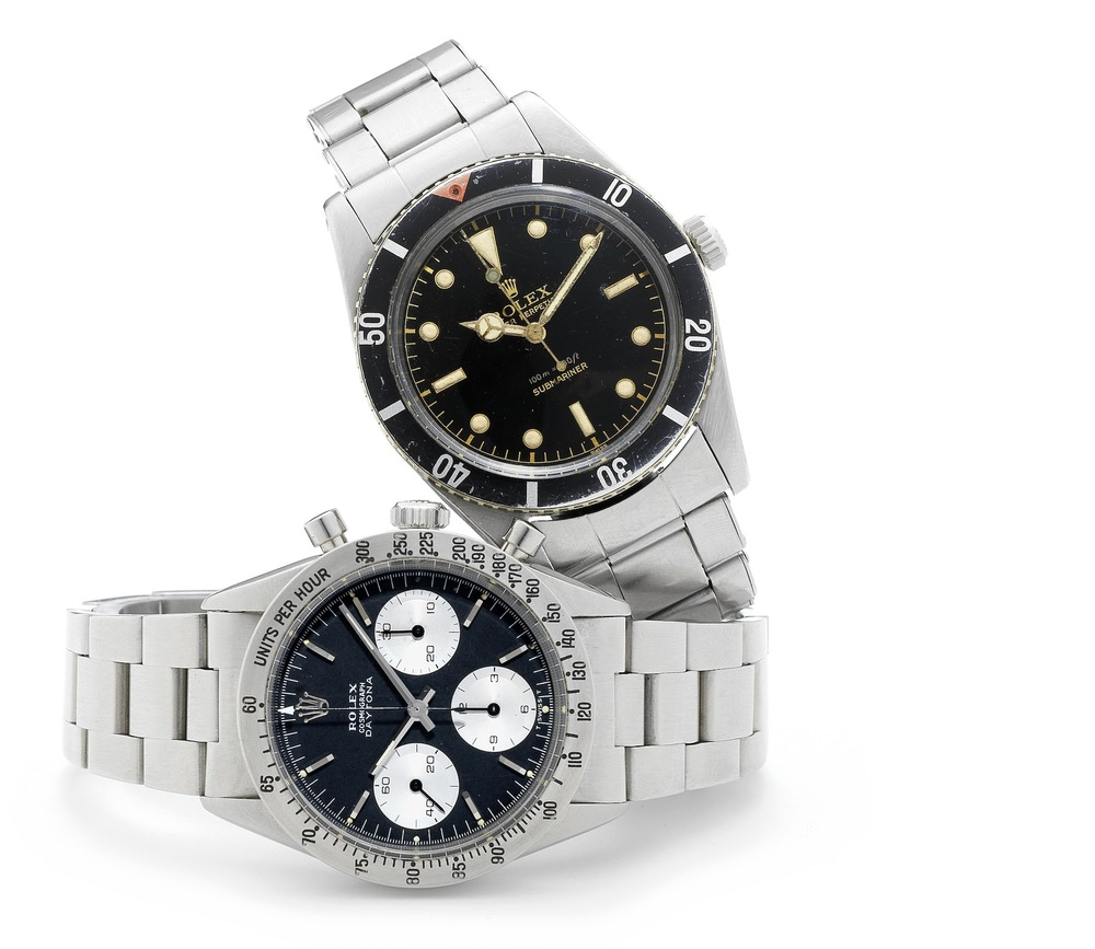 Submariner Ref. 6536 (Lot 116) and Daytona Ref. 6239 (Lot 115)